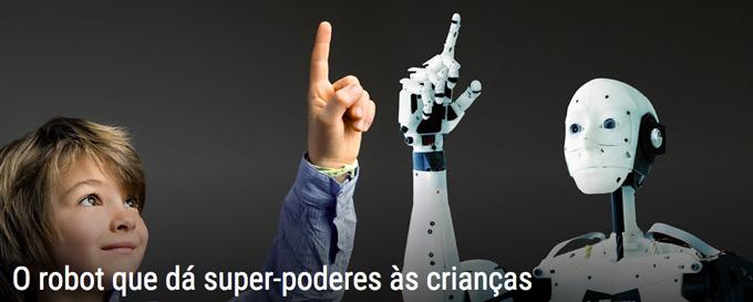 o Robot que dá Super Poderes às Crianças